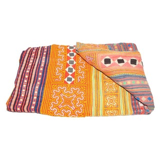 Yellow & Orange Hmong Blanket