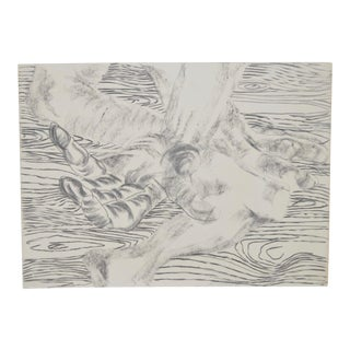 Frank van Hemert (Dutch, b.1956) Original Charcoal on Paper c.1986