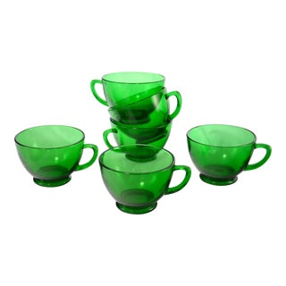 Emerald Green Glass, 1960s - Set of 6