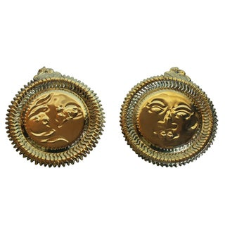 Brass Wall Plaques - Pair