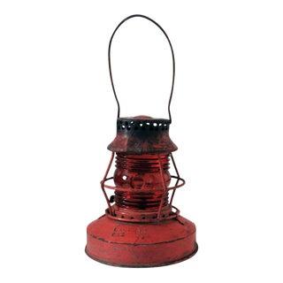 1940s Vintage Red Kerosene Lantern