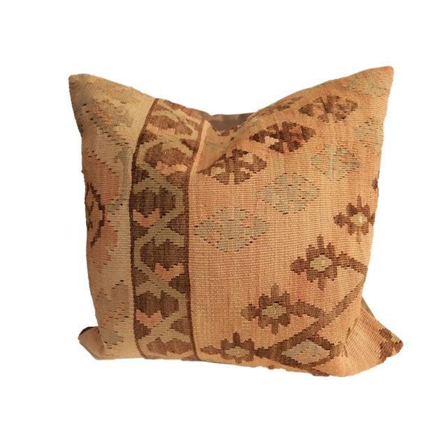 Old Turkish Tribal Kilim Pillow - Image 2 of 7