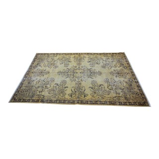 "Vintage Distressed Overdyed Rug - 6'8"" X 10'4"""