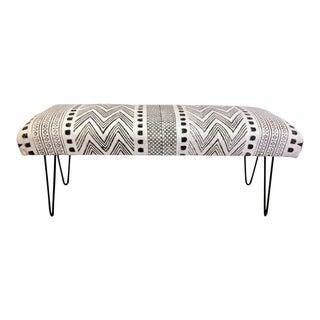 Boho Mudcloth Upholstered Bench
