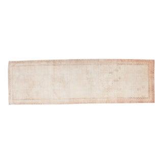 "Vintage Distressed Oushak Rug Runner - 3'8"" X 11'10"""