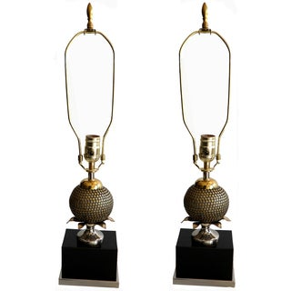 Maison Charles Pomegranate Table Lamps - A Pair