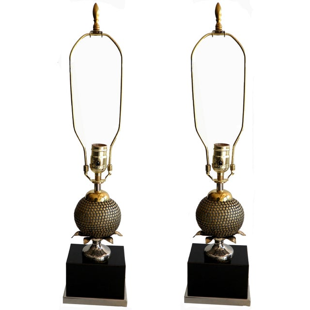 Image of Maison Charles Pomegranate Table Lamps - A Pair