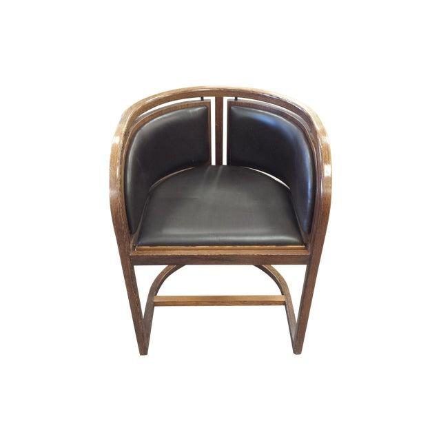 Lignum Vitae & Leather Chair - Image 1 of 5