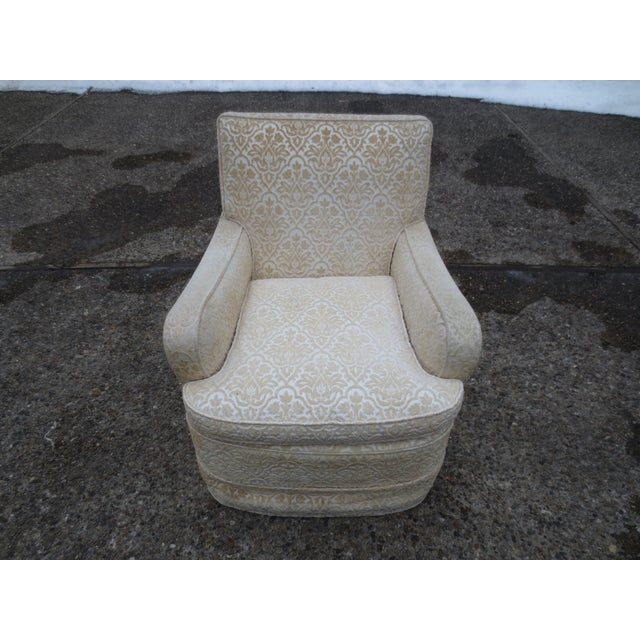 Vintage Cream Club Chairs - A Pair - Image 6 of 9