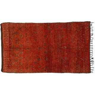 Berber Moroccan Rug with Tribal Flair -- 6'8 x 11'6