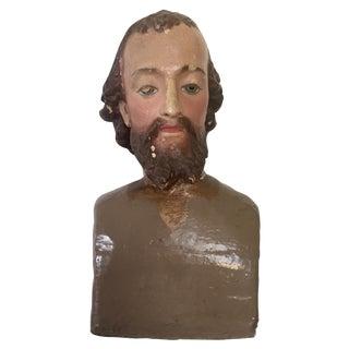 Antique Saint Joseph Chalkware Bust