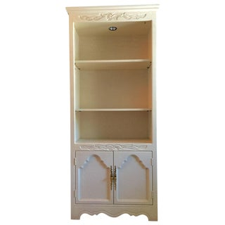 Custom White Crackle Glaze Shabby Chic Cabinet