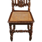 Image of Antique 1880 French Hunting Dining Chairs - Set/6