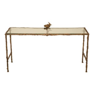 Giacometti Inspired Solid Bronze French Coffee Table by Joel Roux