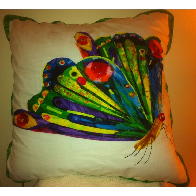 Image of Kid's Red Armchair & Hungy Caterpillar Pillow