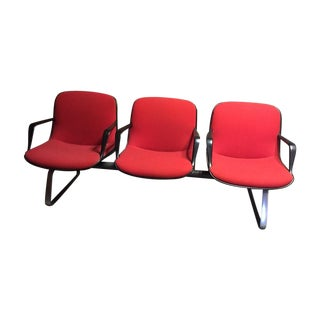 Mid Century Modern Steelcase Gang Chairs