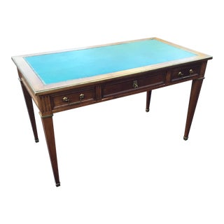 Antique Regency Leather Top Writing Desk