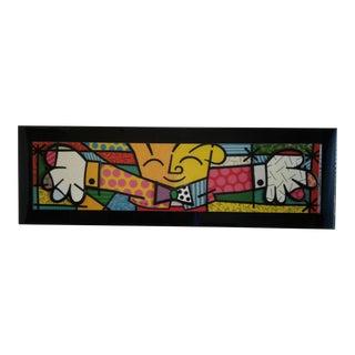 "Romero Britto ""Hug 1993"" Painting"