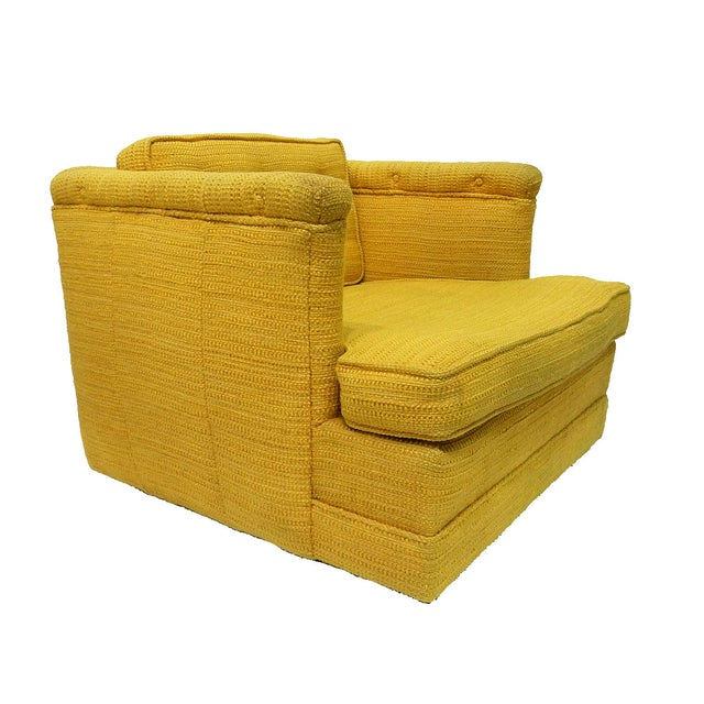 Yellow Mid-Century Club Chair - Image 2 of 8
