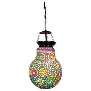 Boho Mosaic Bulb Lantern