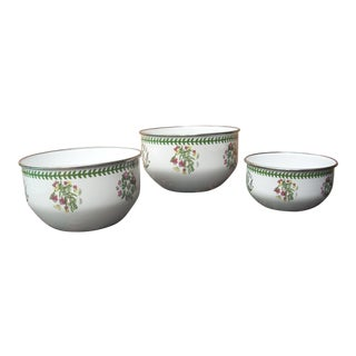 Portmeirion Enamel Bowls - Set of 3