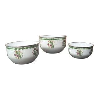 Portmeirion Enamel Bowls - Set of 3
