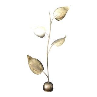 Tommaso Barbi Brass Leaf Floor Lamp