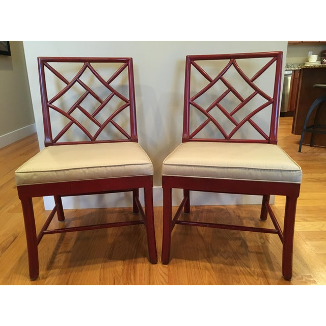 Hickory Chair Fretwork James River Side Chairs - A Pair - Image 3 of 10