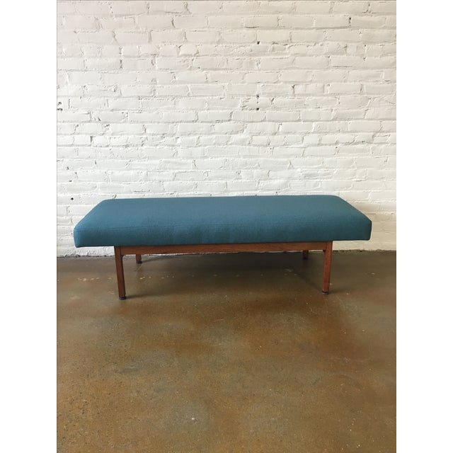 Danish Modern Walnut Upholstered Bench - Image 2 of 6