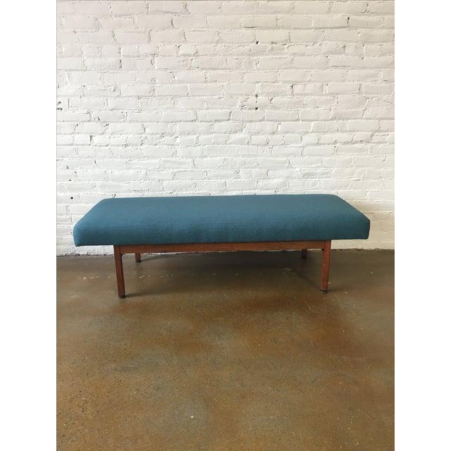 Danish Modern Walnut Upholstered Bench Chairish