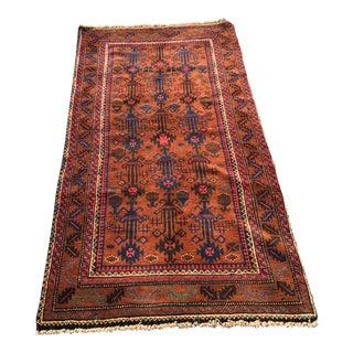 "Vintage Persian Baluchi Small Area Rug - 2'8""x5'6"""
