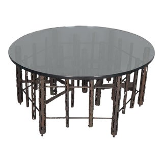 Vintage Brutalist Style Coffee Occasional Table