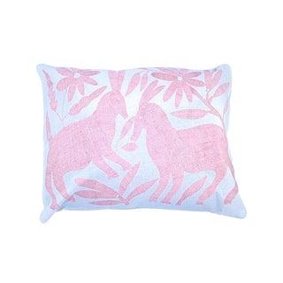 Light Pink Handwoven Otomi Pillow Cover