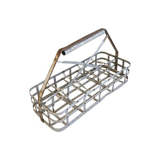Antique French 10-Bottle Carrier - Image 3 of 5