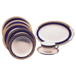 Okura of Japan Royal Blue Fine China