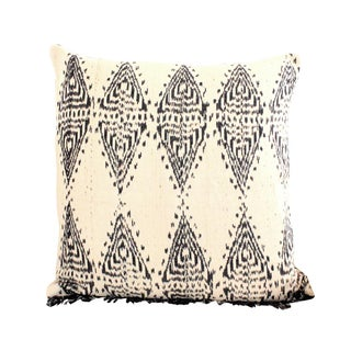 Off-White Handwoven Javanese Ikat Pillow
