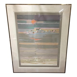 Abstract Coastal Scene Serigraph