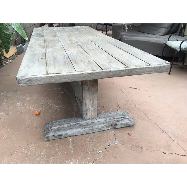 Antique Rustic Farm Table - Image 6 of 7
