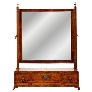 Antique Queen Anne Walnut Dressing Mirror, 18th Century