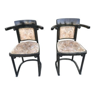Josef Hoffman Fledermaus Chairs - a Pair