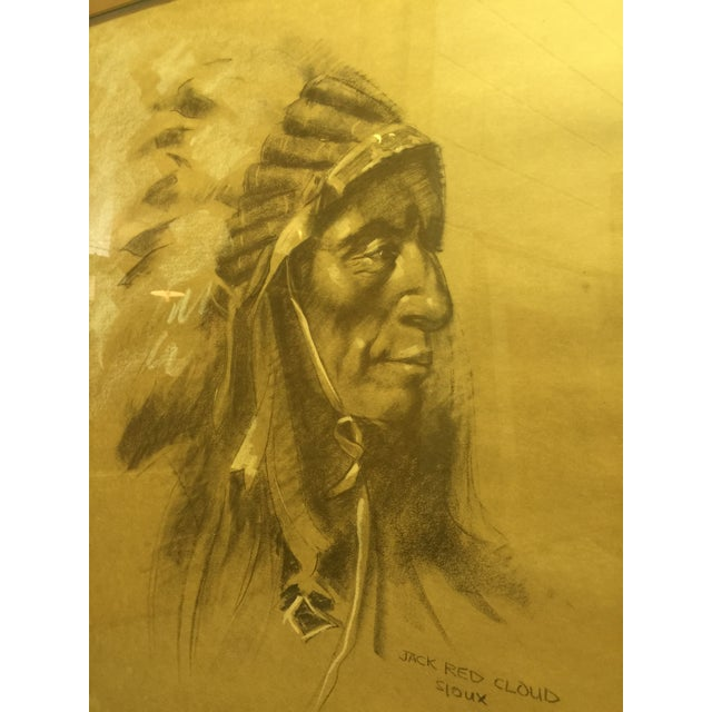 """Image of """"Jack Red Cloud"""" Artist's Proof by Frank Taurietto"""