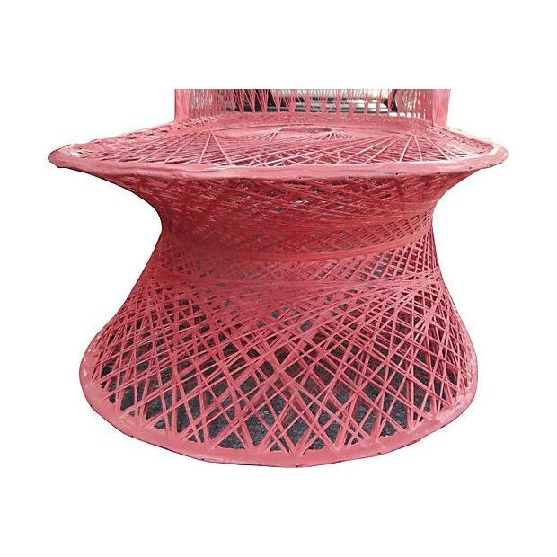 Vintage Coral Fiberglass Chaise Lounge - Image 3 of 5