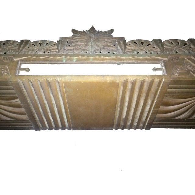 Art Deco Bronze/Brass Elevator Door Frame - Image 6 of 10