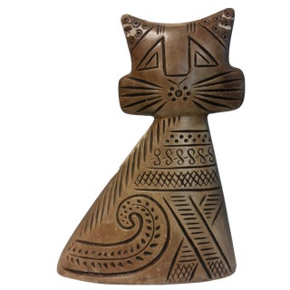 Hedi Schoop Pottery Male/Female Turnabout Cat