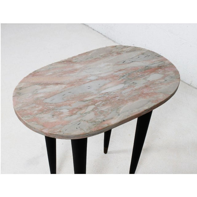Pink Marble Top Accent Tables - Pair - Image 4 of 7