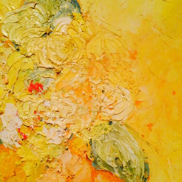 Floral Impressionist Painting Signed Bernheim - Image 5 of 8