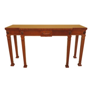 Adam English Style Mahogany Console