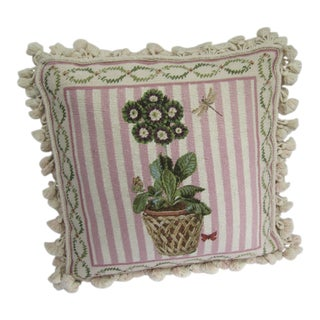 Topiary Needlepoint Pillow