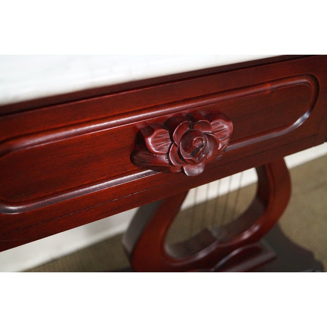 Kimball Marble Coffee Table: Kimball Solid Mahogany Victorian Style Console