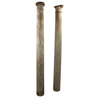 1930s Salvaged Architectural Columns - A Pair
